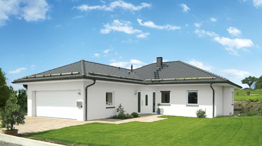 Winkelbungalow mit angebauter Doppelgarage | Fertighausanbieter ...